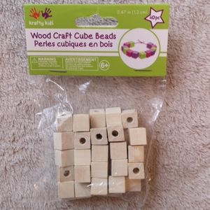 FREE Gift with purchase NEW 40pk wooden beads